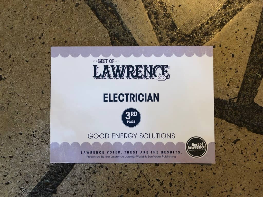 Good Energy Solutions, Electrical Services is Best of Lawrence for Electrical Services
