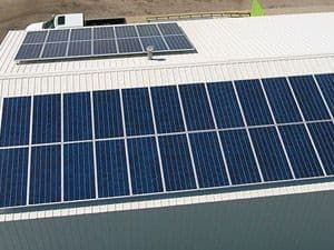 SunPower Solar Array at Coppers' Carts in Hays, Kansas