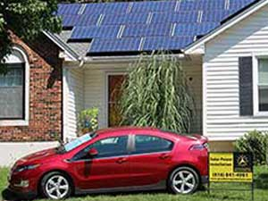 Residential Solar Creates Power For The Electric Car